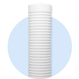 G series grooved melt blown filters